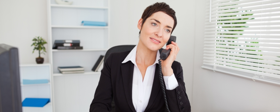 woman contacting